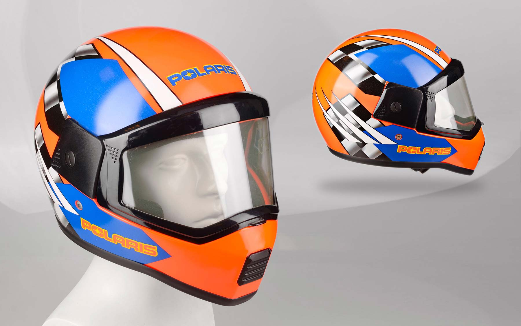 First Snowmobile helmets.